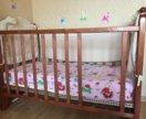 Кроватка детская, матрац и бортики