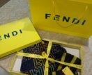 Шелковый шарфик FENDI в подарочной упаковке