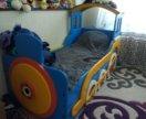 Детская кровать паровоз