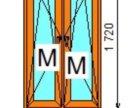 Окно 920* 1720 кэшир. Золотой дуб 5 кам.