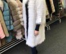 Пальто из арктической лисы