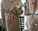 Новое песочное пальто oversize