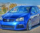 Бампер VW golf 5 look R20