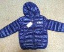 Куртка синяя на осень, новая