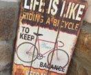 Декоративная доска винтаж велосипед