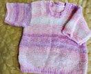 Вязаный пуловер на модницу