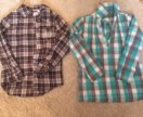 Две рубашки на девочку 134
