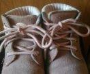 Замша натуральная зимние ботинки