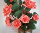 Конфетный букет - чайные розы
