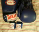 Боксёрские перчатки+бинты Danata Star