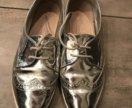 Ботинки актуально серебряного цвета