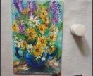 Картина «цветы полевые»