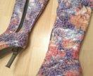 Лаковые ботфорты на каблуке пазлы