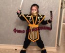 Ниндзя бархатный новый новогодний костюм
