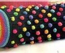 Вязаные подушки-валики
