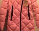 Пальто куртка пуховик розовая
