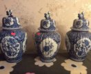 Старинная ваза горшок. Делфтский фарфор.Delfts