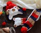Шапочка+шарфик новый набор