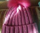 Теплая Новая шапочка для девочки