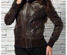 Натуральная кожаная куртка TOM TAILOR
