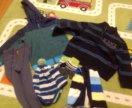 Вещи на мальчика (кофты, шапка, варежки)