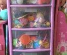 Пластмассовый комод для игрушек