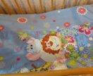 Кроватка детская матрас подушка постельное белье
