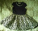 Платье с пышном низом
