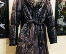 Зимнее пальто из натуральной кожи Cadenbo