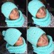 Вязанный снуд, шапка