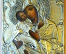 Икона 19 век Владимирская Богородица 18х14,5