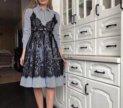 Продам платье 2в 1 с кружевом