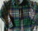 Детская рубашка GAP фланелевая 2-3 г.