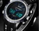 Часы спортивные новые с двойным циферблатом