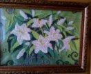 Лилии вышивка бисером