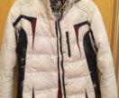 Белоснежная,спортивная,зимняя куртка.