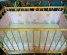 New Детская кроватка новая + матрас+ бортики