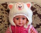 Зимняя шапочка для девочки.