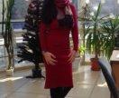 Платье бордовое,новое