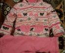 Утепленный костюм для девочки на 2 года