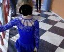 Платье для фигурного катания (васильковое)