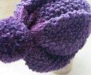 Вязаная шапочка из альпаки и акрила