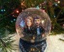 Снежный шар с портретными фигурками