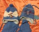 Детские новые зимние шапки