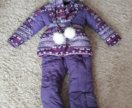 Зимний костюм ( комбинезон) для девочки (128 см)