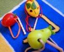 Деревянные игрушки шнуровки