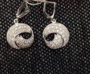 сережки серебряные новые