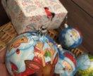 Елочные игрушки ,новогодние шары ручной работы