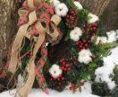 Интерьерные рождественские венки