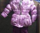 Новый зимний костюм на девочек с натуральным мнхом